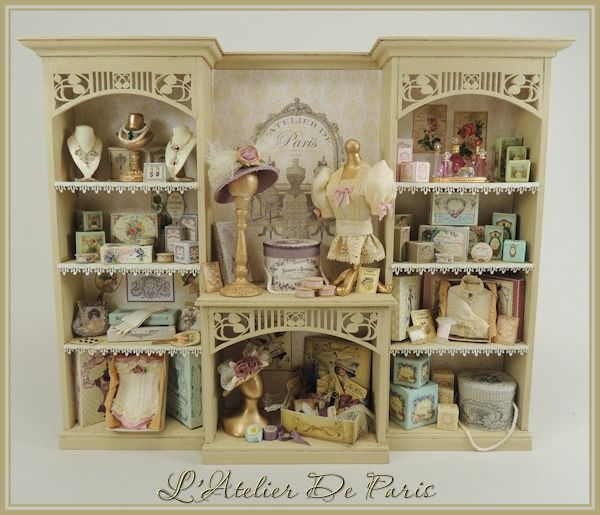 L'Atelier de Paris Ladies Shop Display Online Project [OC-LAP] : Cynthia Howe Miniatures!, Your premier source for Dollhouse Miniatures, Miniature Classes, Miniature Dolls and Molds, Kits and Free Tutorials.