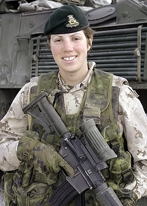 Canadian Women serving in Combat Zones in Afghanistan! This is Capt. Nichola Goddard, who was killed in combat, May17, 2006. R.I.P., Nichola.