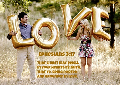 Ephesians 3:16 That he would grant you, according to the riches of his glory, to be strengthened with might by his Spirit in the inner man;     17 That Christ may dwell in your hearts by faith; that ye, being rooted and grounded in love,     18 May be able to comprehend with all saints what is the breadth, and length, and depth, and height;     19 And to know the love of Christ, which passeth knowledge, that ye might be filled with all the fulness of God.