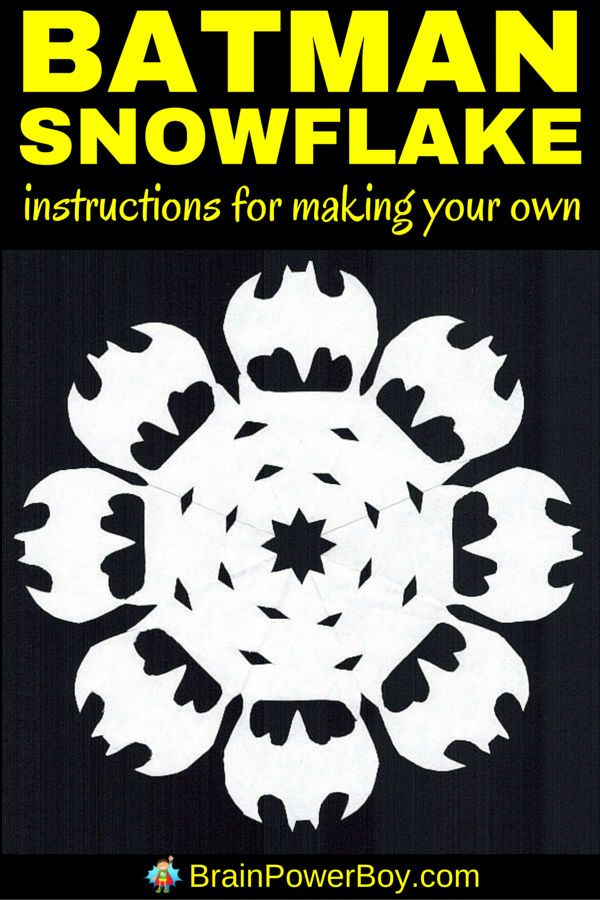 Holy snowflake, Batman! You can make your own Batman snowflake! Click image for easy to follow directions.
