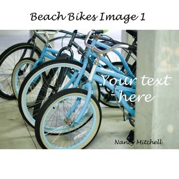This is a cute image of blue beach bikes. This is one image of the beach bikes. It is ready to use as an instant download. (No physical item will be…