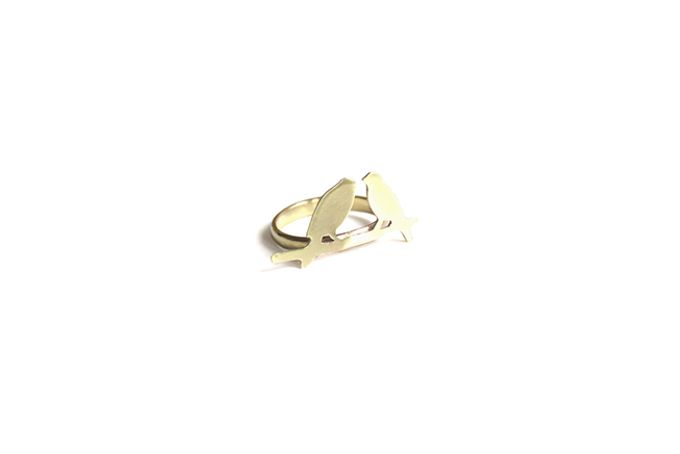 Brass Birds Ring by SMITH Jewellery