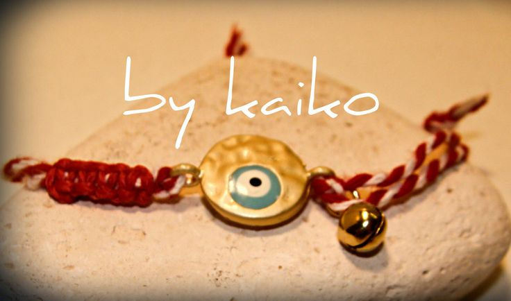 greek martakia, greek jewelry,spring bracelet, evil eye bracelet,greek traditional bracelet,protection jewelry,red and white wrap bracelet, by bykaiko on Etsy