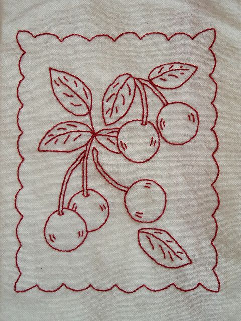 redwork AND cherries!