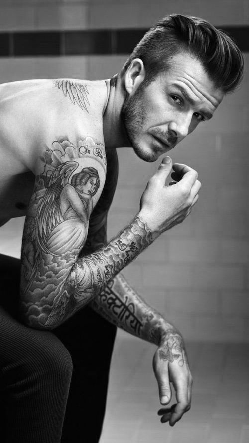 David Beckham's sleeve