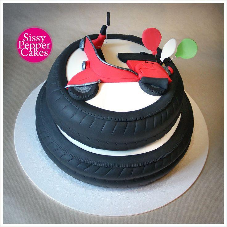 ... Vespa Cake on Pinterest  Motor cake, Fondant tutorial and Paris cakes