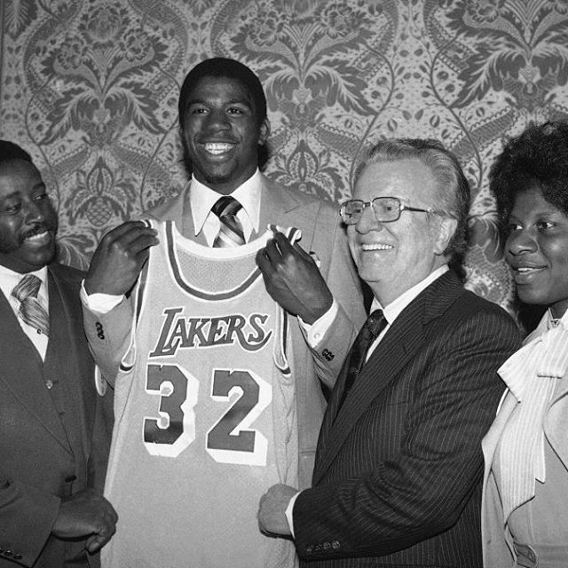On this date, 37 years ago, the #losangeles #lakers selected #magic #johnson with the #first overall pick in the 1979 NBA #draft  #magicjohnson #losangeleslakers #lakersnation #la #nba #nbadraft #draftnba #basket #basketball #legend #champion #history #retro #vintage #picoftheday #pictureoftheday #like4like #likeforlike #saturday
