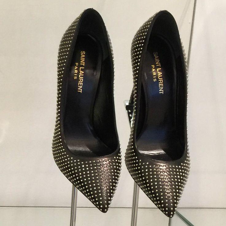 Shoes by #SaintLaurent #metal #studs #FolliFollie #FW14collection