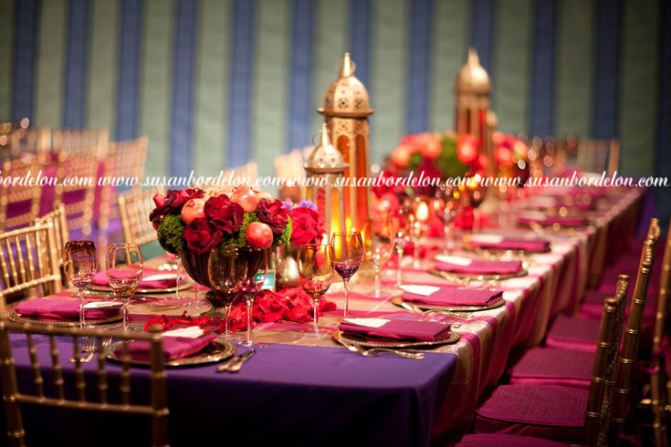 Arabian nights themed wedding