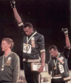 African-American athletes suspended from Olympics.  Oct 16, 1968 Tommie Smith and John Carlos were suspended from the Mexico City Olympics for the Black Power salute at the awards ceremony. | African American Registry