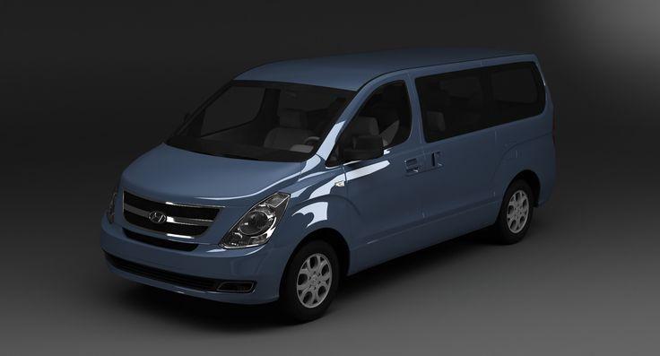 3D H 1 Hyundai Model - 3D Model
