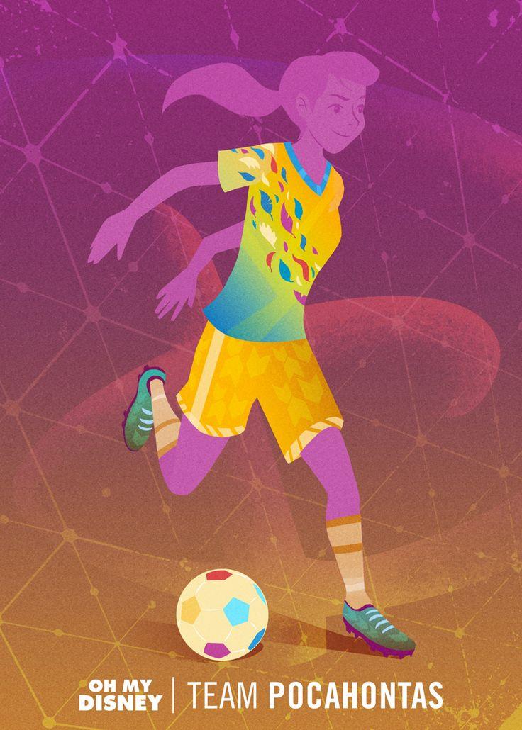 Tenue de football féminin inspirée de Pocahontas