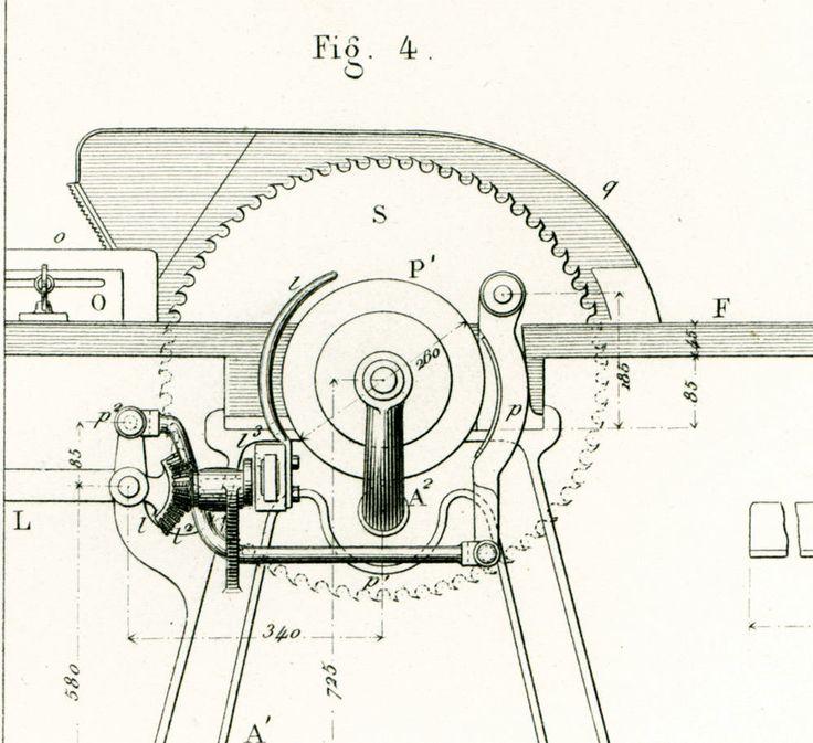 1883 Scie Circulaire Machine à Bois Gravure Ancienne Brevet Publication Industrielle Technique. Armengaud. Paris. de la boutique sofrenchvintage sur Etsy