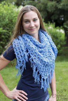 The Broomstick Lace Triangle Shawl