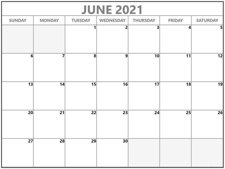 January 2021 Printable Calendar Blank Quick Usage di 2020