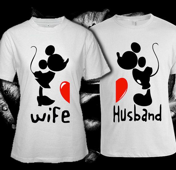 Mickey miney mouse couple custom t shirt print screen t for Where can i screen print t shirts