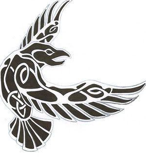 odin's ravens tattoo - Google Search                                                                                                                                                     More