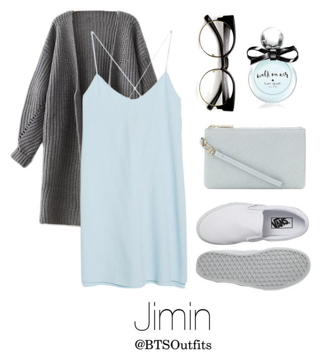 """Cute/Flirty Outfit with Jimin"" by btsoutfits ❤ liked on Polyvore featuring MANGO, Whistles, Vans and Kate Spade"