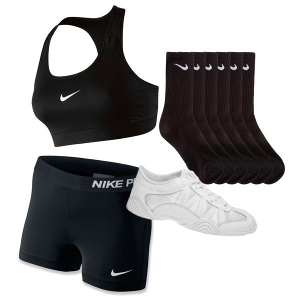 Cheer Practice Outfit by tessarubino on Polyvore featuring NIKE