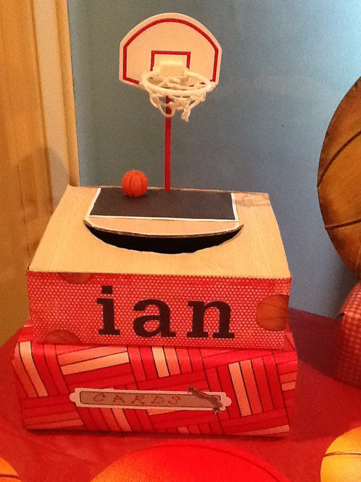 I Made This Gift Card Box For My Son S Basketball Themed