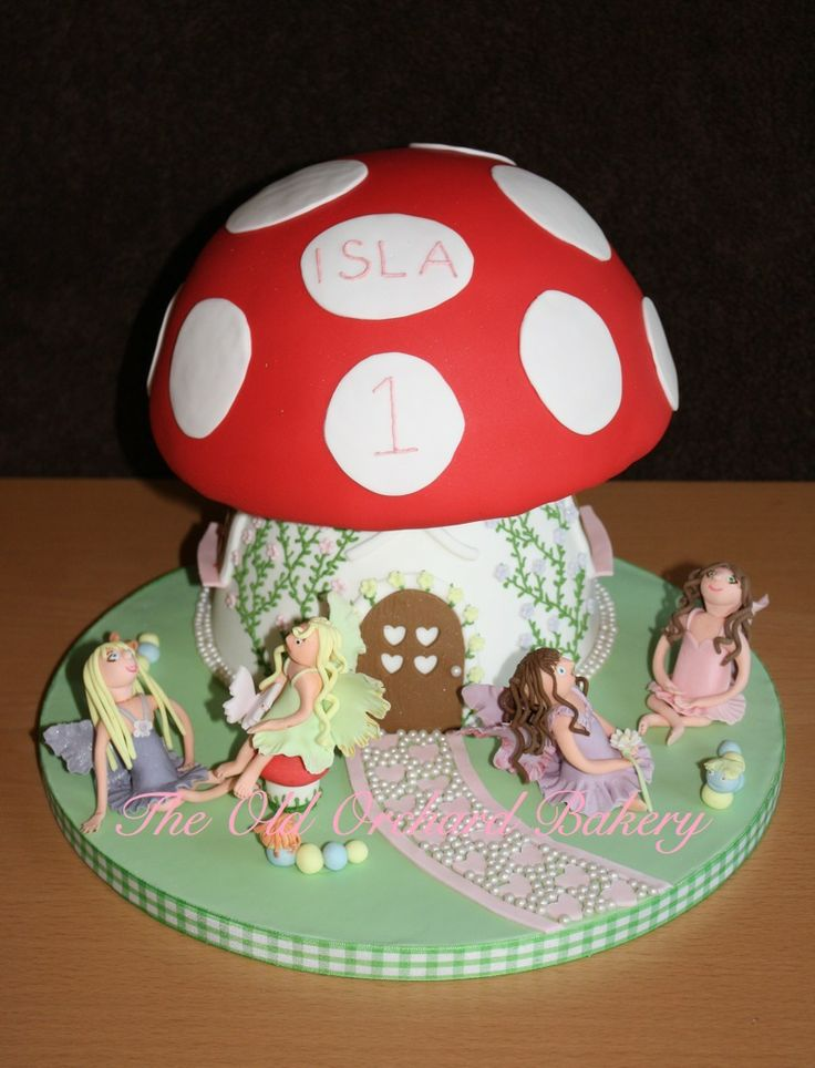 Fairy Toadstool Cake Cakes For Girls Pinterest