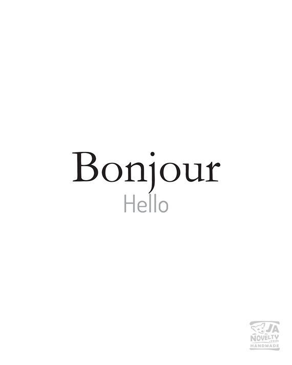 Bonjour French printable French words digital by JAnoveltyDeSign