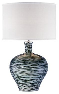 Possini Euro Design Green Wave Ceramic Table Lamp $130   Free Shipping And  Returns