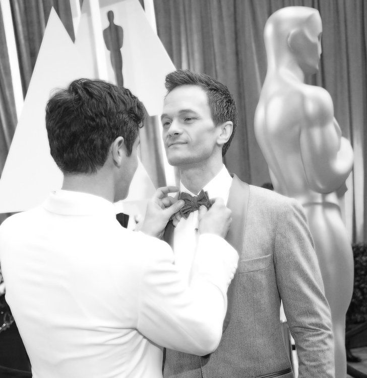 Pin for Later: Stunning Oscars Pictures You Haven't Seen Yet Neil Patrick Harris and David Burtka
