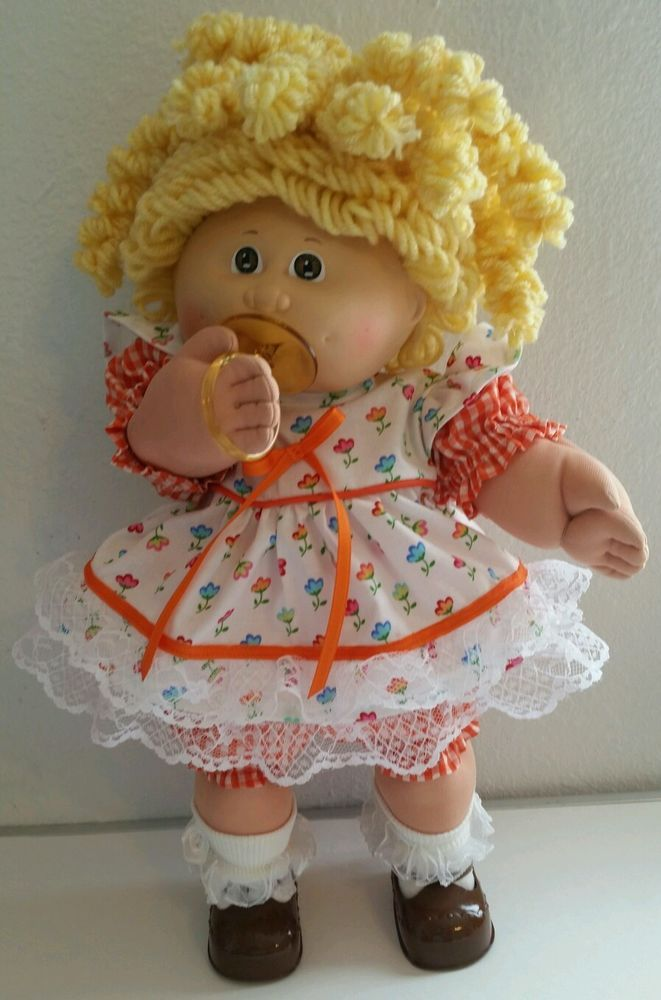 VINTAGE CABBAGE PATCH KIDS UT #4 PACI CUSTOM LEMON POPCORN REROOT CLOTHES SHOES #Dolls