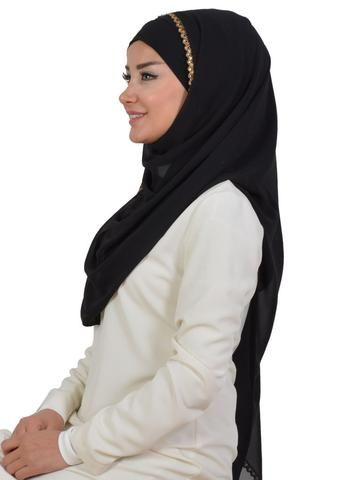 Solid Color Practical with thin Lace Chiffon Shawl-Hijab
