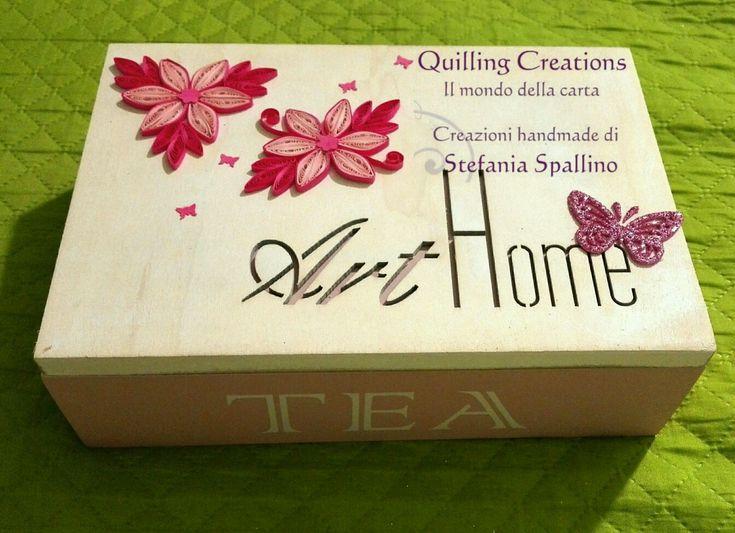Porta bustine da tea quilling
