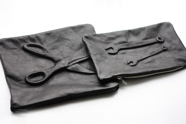 DIY embossed leather clutch!
