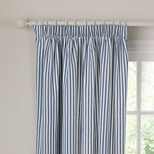 Buy John Lewis Ticking Stripe Lined Pencil Pleat Curtains Online at johnlewis.com