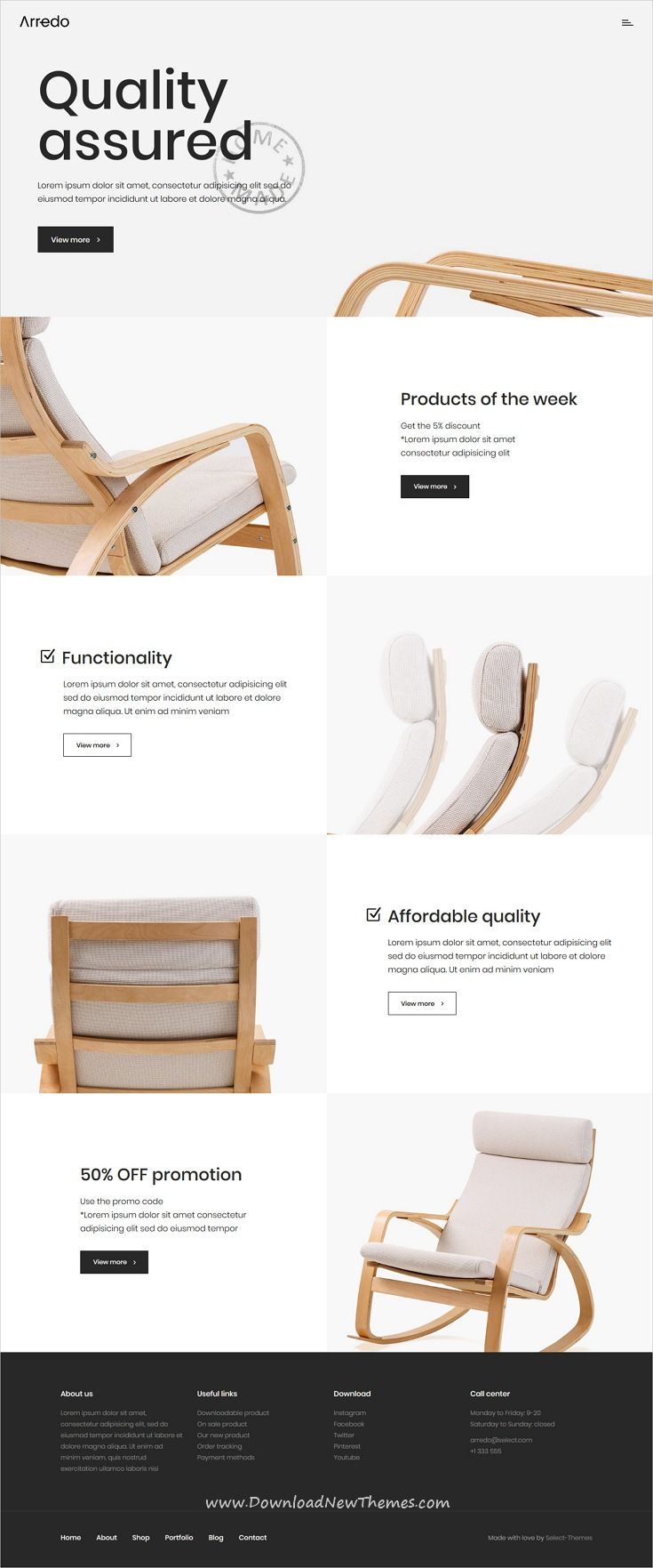 Arredo is a clean, minimal and modern design 100in10 responsive