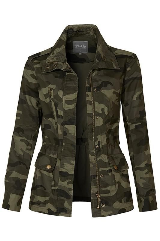 Camo Military Anorak Jacket in 2019 | Oberbekleidung frauen