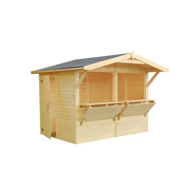 Chiringuito o kisko de madera modelo Stella de 5 m². Disponible en tu tienda online www.hortum.es