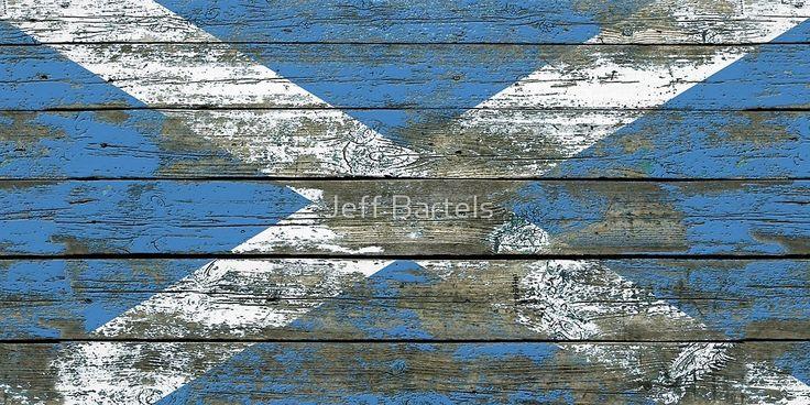 Flag of Scotland Rough Wood
