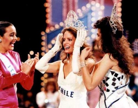 Miss Chile, Cecilia Bolocco was crowned Miss Universe in 1987