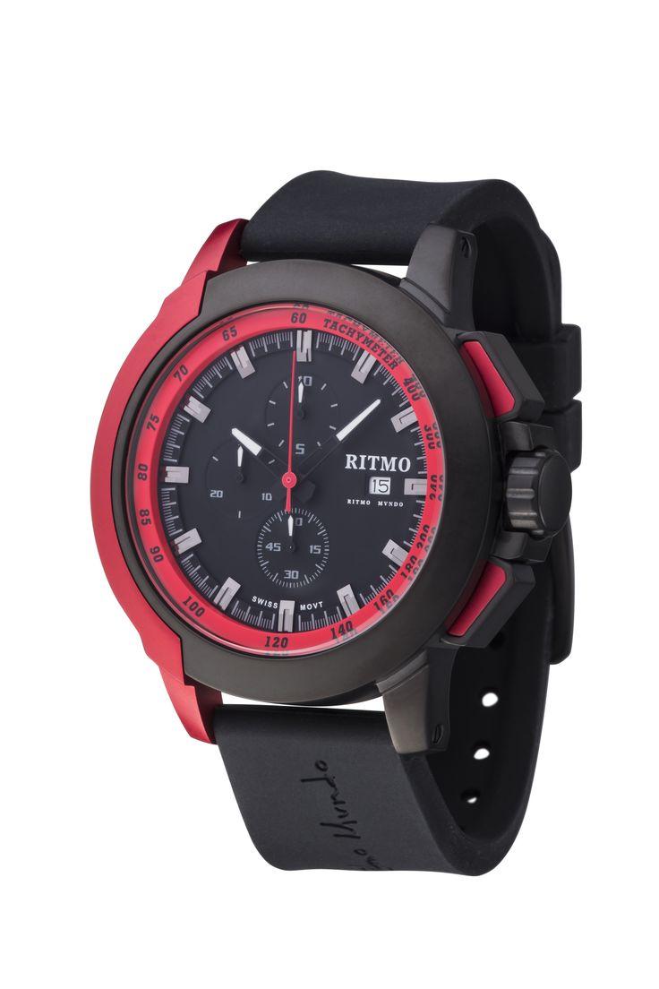 Quantum II Red 50mm Sport Swiss Chronograph