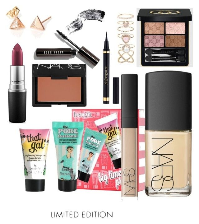 """""""Perfect Makeup"""" by megmegmarx on Polyvore featuring beauty, MAC Cosmetics, Benefit, NARS Cosmetics, Gucci, Yves Saint Laurent, Bobbi Brown Cosmetics and Accessorize"""
