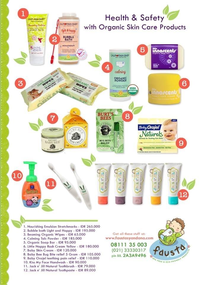 Produk Bayi dan Anak-Anak yang berbahan organic dan sangat cocok bagi kulit senstive. Pemesanan bisa melalui WhatsApp/Line/WeChat : 08111929113