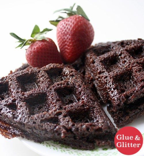 Crispy on the outside, chewy on the inside waffle iron brownies!