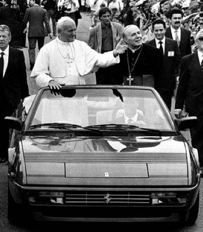 The Pope in a Ferrari