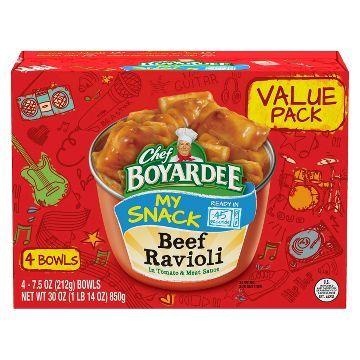 Chef Boyardee Beef Ravioli 7.5 oz - 4 ct