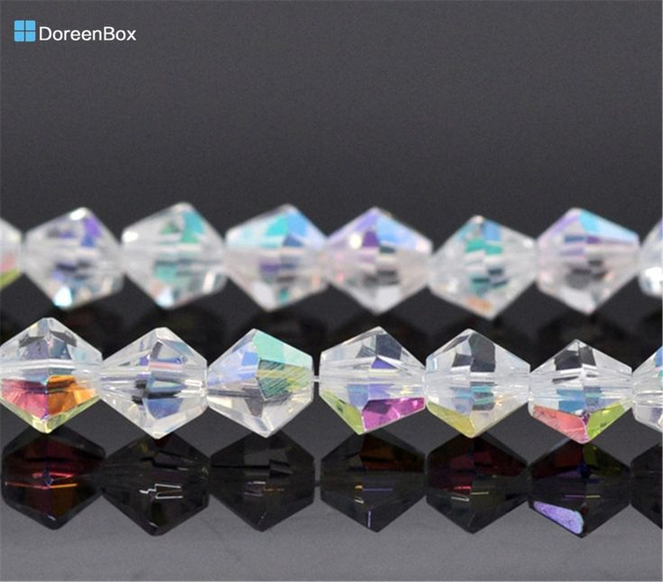 1.78$  Buy here - Doreen Box hot-  Crystal Glass Faceted Bicone Beads 5301 6x6mm ,Approx 100Pcs (B12542)   #aliexpressideas
