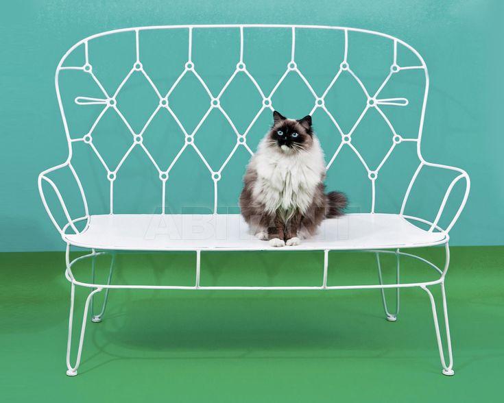 Скамейка Outline белая Seletti 16055 bia , мебель для террасы и сада: фото, заказ на ABITANT , Москва