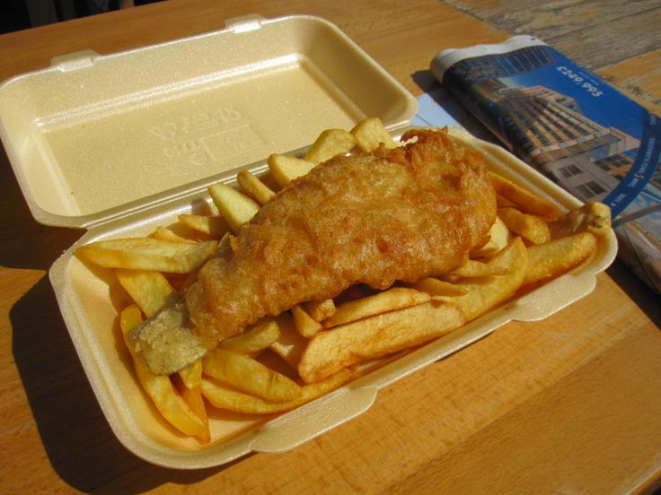 Fish and chips in London, Uk.