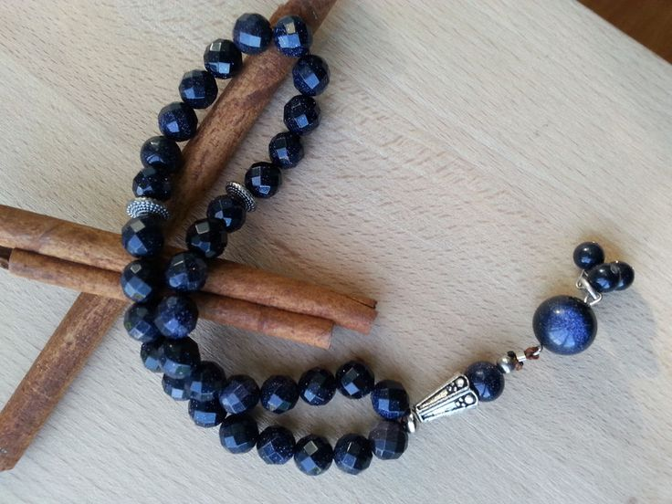 Tasbih beautiful Blue Sandstone 33 beads 8mm
