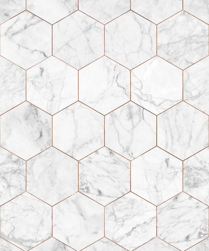 Marble & Copper Tiles Wallpaper • Crisp Marble Tiles
