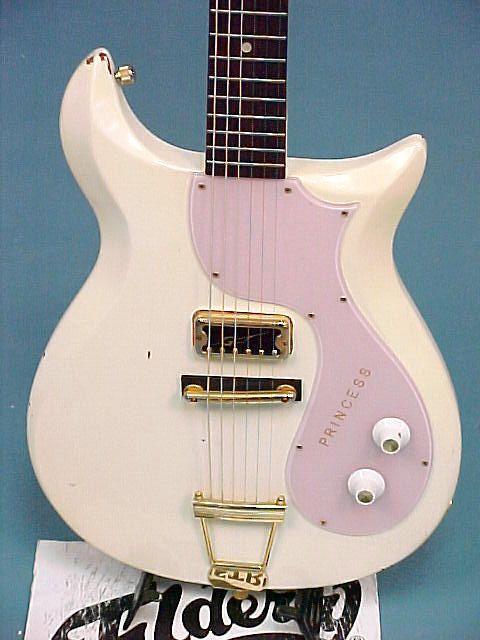 1963 Gretsch Princess White W Pink Pickguard Gold